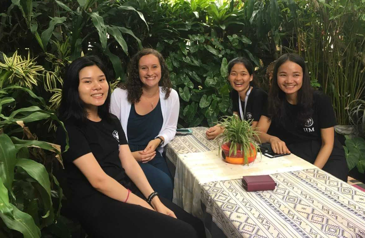 Hannah White at her summer internship with the International Justice Mission in Thailand