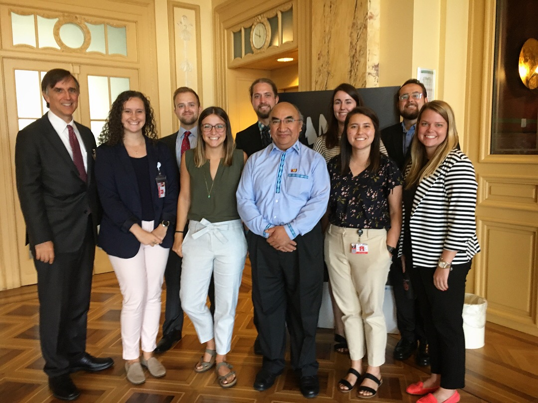 OU Law students interned at the United Nations Committee on the Elimination of Racial Discrimination in Geneva, Switzerland, in August 2018.