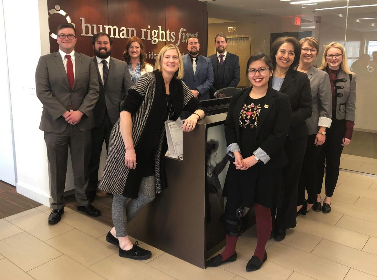 OU Law students at Human Rights First in Washington, D.C.