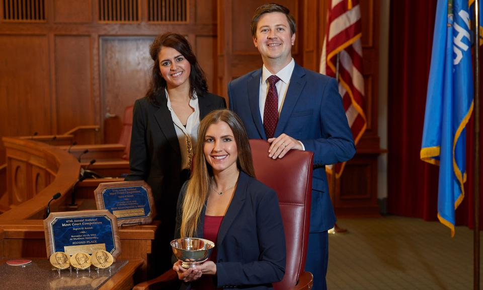 OU Law's team placed second in regional rounds of the National Moot Court Competition, securing a spot in the national rounds in New York City.